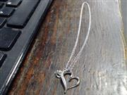 "18"" Diamond Necklace 5 Diamonds .05 Carat T.W. 10K White Gold 1.3g"